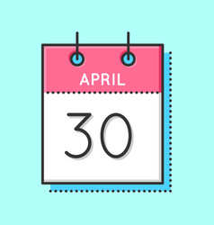 April calendar icon vector