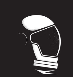 astronaut helmet reflects star vector image
