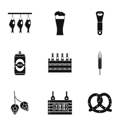 Beer festival icons set simple style vector