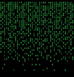binary code green and dark background digits on vector image