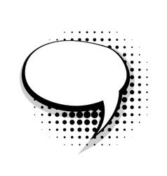 Blank template comic speech round bubble vector