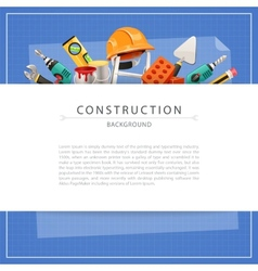 Blueprint Construction Background with Copy Space vector image