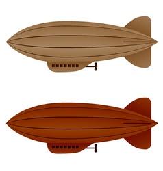 Brown vintage airship zeppelin vector