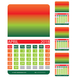 Calendar spring vector