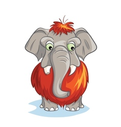 Cartoon image of a baby mammoth vector