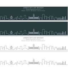 Chennai single line skyline banner vector