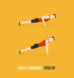 Chest exercises push up vector