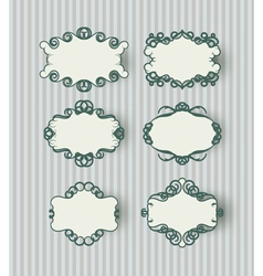 childish retro frames vector image vector image
