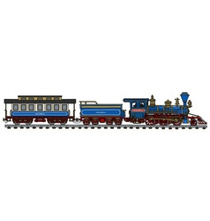 Classic american train vector