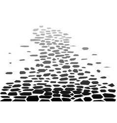 Cobbled street background vector