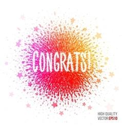 Congratulation beautiful design element vector