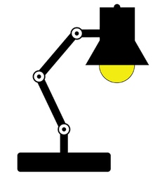 Desk lamp vector