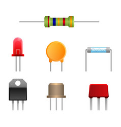 Diode types set two-terminal electronic vector