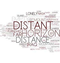 Distant word cloud concept vector