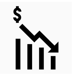 Dollars recession icon vector