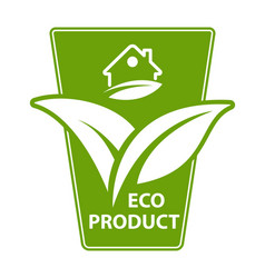 Eco product label sticker vector