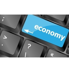 economy button on computer keyboard keys vector image