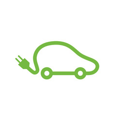 electric vehicle car icon vector image