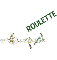 European roulette text background word cloud vector