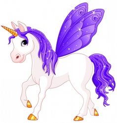 fairy tail horse vector image