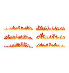 fire borders on white vector image