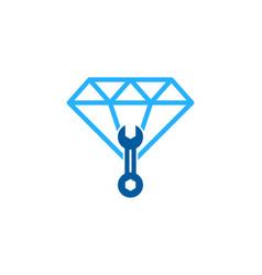 Fix diamond logo icon design vector