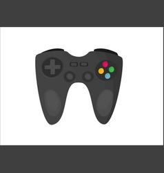 flat joystick isolated on white background vector image