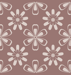 floral seamless pattern brown vector image