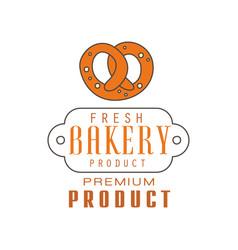 fresh bakery product premium product logo vector image