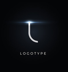 Futurism style letter l minimalist type for vector