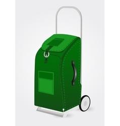 green trolley suitcase vector image vector image