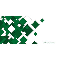 Green white shapes background design vector