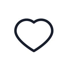 Heart black line icon popular media element like vector