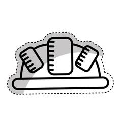 Helmet head protection icon vector
