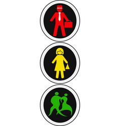 Isolated people traffic light design vector