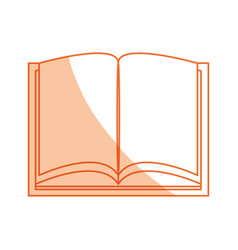 isolated study book vector image