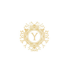 Letter y initial logo for wedding boutique luxury vector