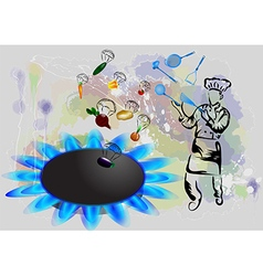 Magic cooking vector image