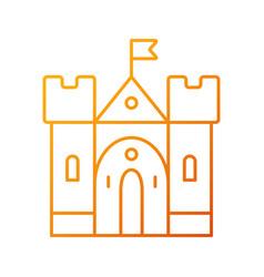 Medieval castle gradient linear icon vector