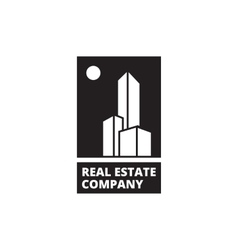 minimalistic black and white real estate vector image