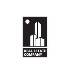 Minimalistic black and white real estate vector