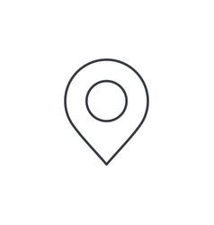 navigation location marker cursor thin line icon vector image