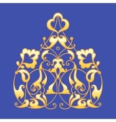 Oriental decorative element Zentangle gold on a vector