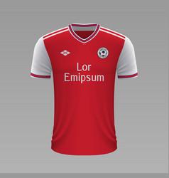 Realistic soccer shirt vector