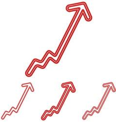 Red line progress logo design set vector
