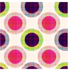 seamless geometric polka dots pattern vector image