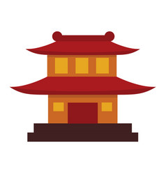 simple chinese pagoda temple graphic vector image