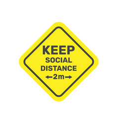 Social distancing keep safe distance 2 metres vector