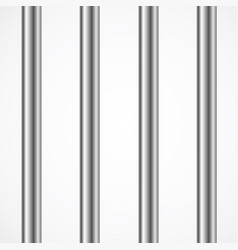 steel prison or jail bars isolated on white vector image
