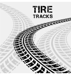 Tire tracks in perspective view vector